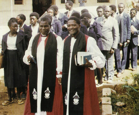Bishop Chitemo (left) with Bishop Mageni (right) on the day of his consecration