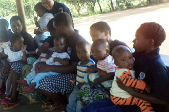 Children and carers at the Berega Orphanage